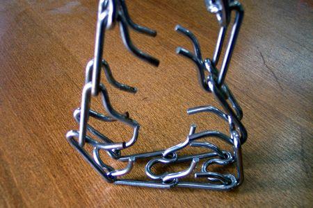 collet: metal leash