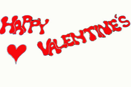 Happy Valentines graffiti Stock Photo - 599477