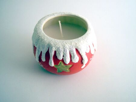 candleholders: xmas candle Stock Photo