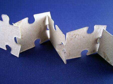 clues: puzzle pieces Stock Photo