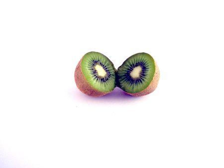 benign: kiwi cut in half Stock Photo