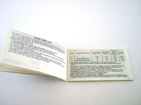 instructions manual photo