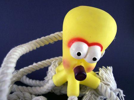 pull toy: juguete pulpo  Foto de archivo