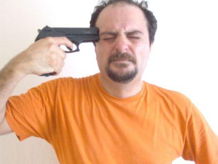 suicidal man photo