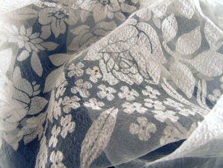 tulle: tulle with flower designs