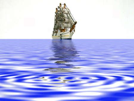 approaching: approaching sailboat Stock Photo
