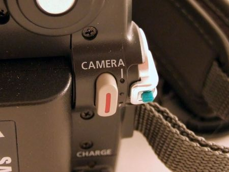 rec: rec pulsante di fotocamera digitale Archivio Fotografico