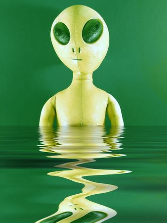 unsolved: alien in water