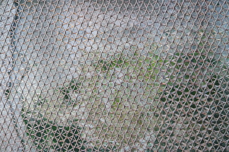 3ds: Steel wiremesh cement wall texture Stock Photo