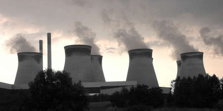 coal fired: Cooling towers at a coal fired power generation station