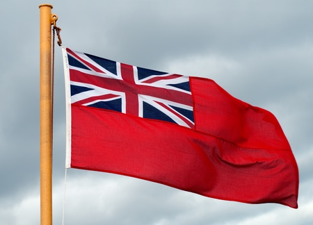 Red Ensign Flag on Ship photo