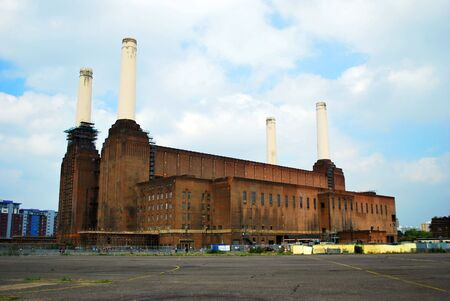 Battersea Power Station first started generating coal power in the 1930s and was decomissioned in 1983. Stock Photo - 5050476