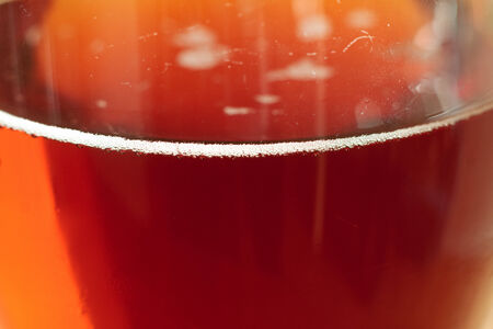 real ale: Close-up of a pint of real English ale
