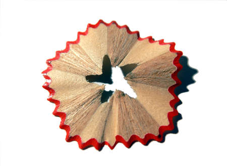 Starry red pencil shaving