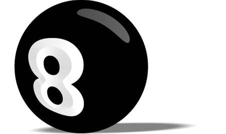 Black pool ball photo