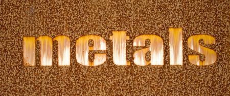 corode: A rusty sign made from iron Stock Photo