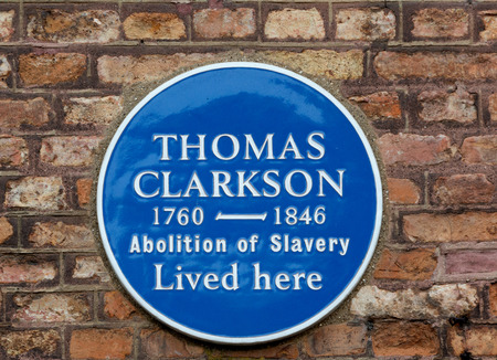slave: Plaque to commemerate Thomas Clarkson - Slave Abolisionist