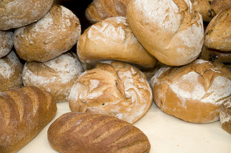 loaves: A pile of bread loaves for sale