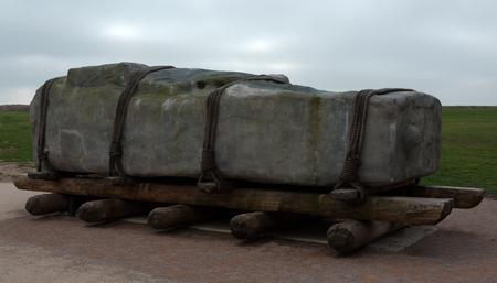 tenon: How they moved Stonehenge Stock Photo