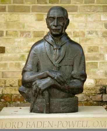 scouting: Statue of Lord Baden-Powell Editorial