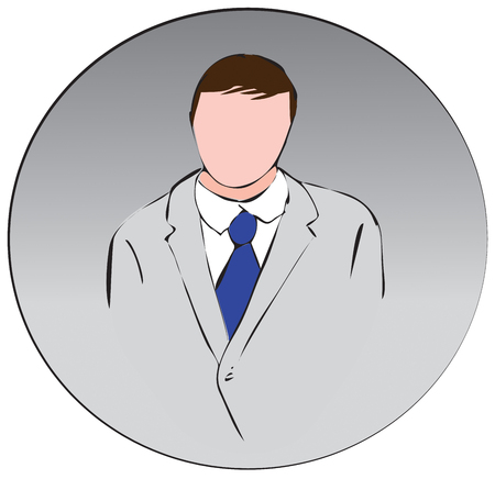 profesional: A man in a suit vector