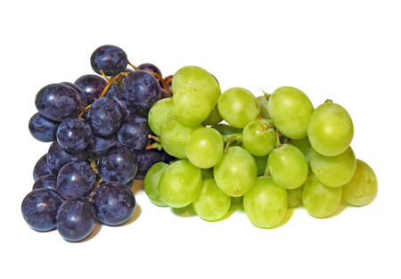 Bunch of dark and green grapes isolated on a white background Reklamní fotografie