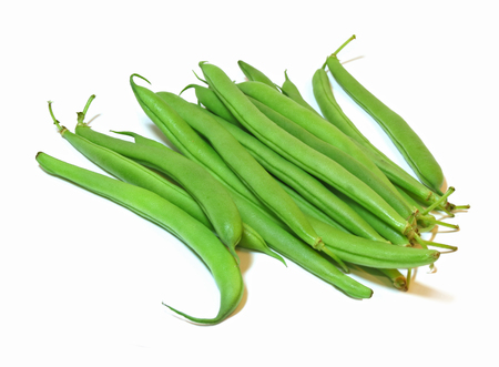 Group of healthy green beans isolated on a white background                             Reklamní fotografie