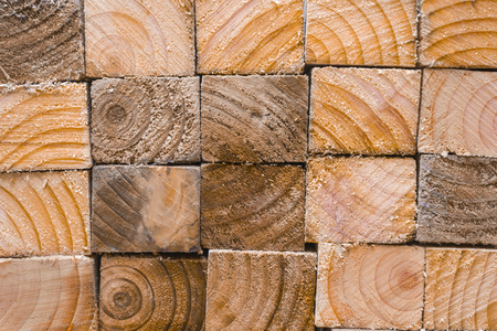 Pile of wood, showing the sawn edges and the patterned wood grain