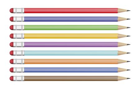 Pencil vectors on a white background Ilustrace