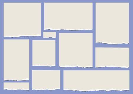 Torn paper pattern. Ilustrace