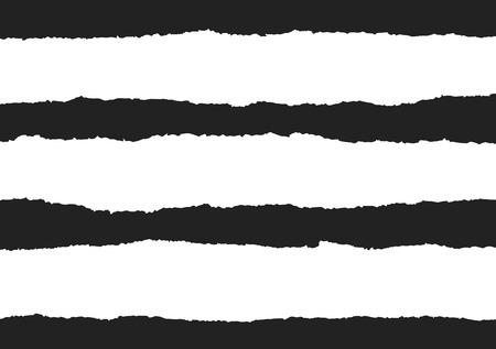 黒の背景に破れた紙ベクトル  イラスト・ベクター素材