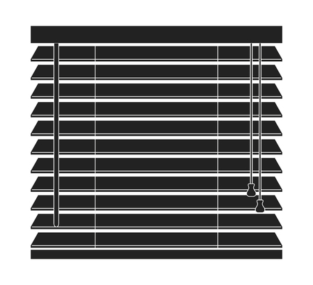 Window blinds vector icon on a white background. Vectores