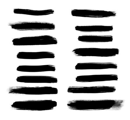 Black Brush strokes isolated on a white background