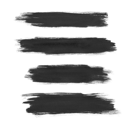 Painted brush strokes isolated on a white background