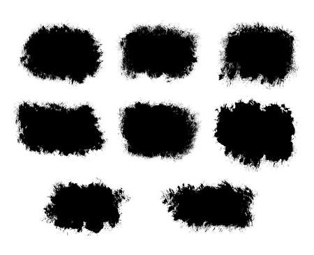 Abstract Ink splatter black shapes isolated on a white background Reklamní fotografie