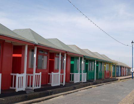 Row of beach huts photo