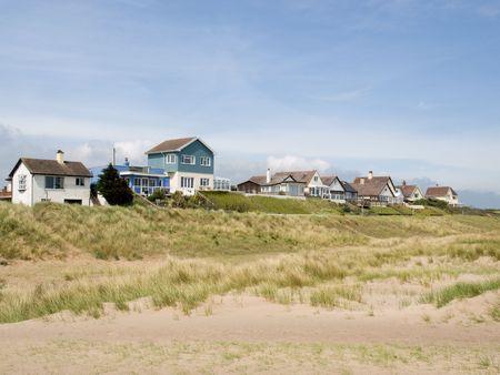 Houses on the beach photo