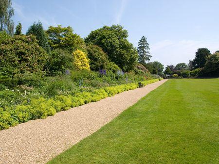 stone path: Garden path Stock Photo