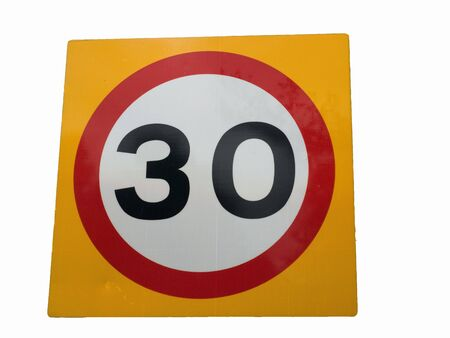 mph: 30 mph speed sign