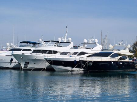 Boats in a Marina in the South Of France Stock Photo - 3804719