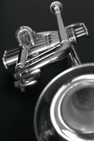 Trumpet 2 b&w photo