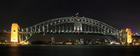 steel bridge: Sydney Harbour Bridge at night