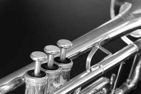 instrumentos musicales: Trompeta Foto de archivo