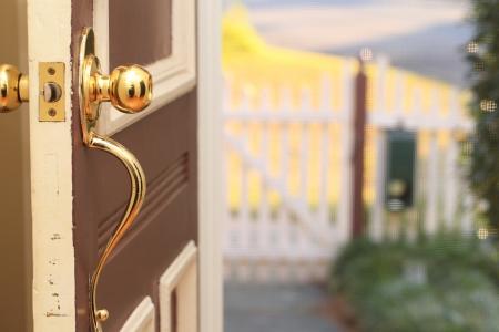 white picket fence: Front Door