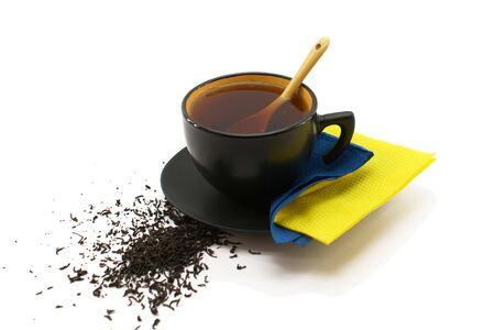 Black Cup of Tea isolated photo