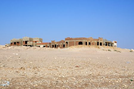 uncompleted: Uncompleted Resort Building, abandonned in Egypt Stock Photo