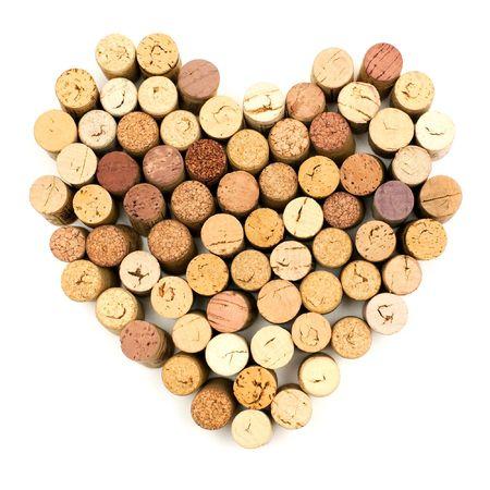 cork: La imagen del coraz�n de corchos vinos