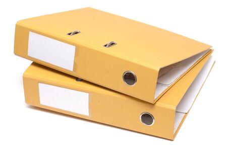 Document folders isolated on white background photo