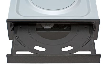 DVD-ROM drive with open empty tray photo