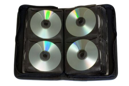 Storage bag for CD, DVD isolated photo